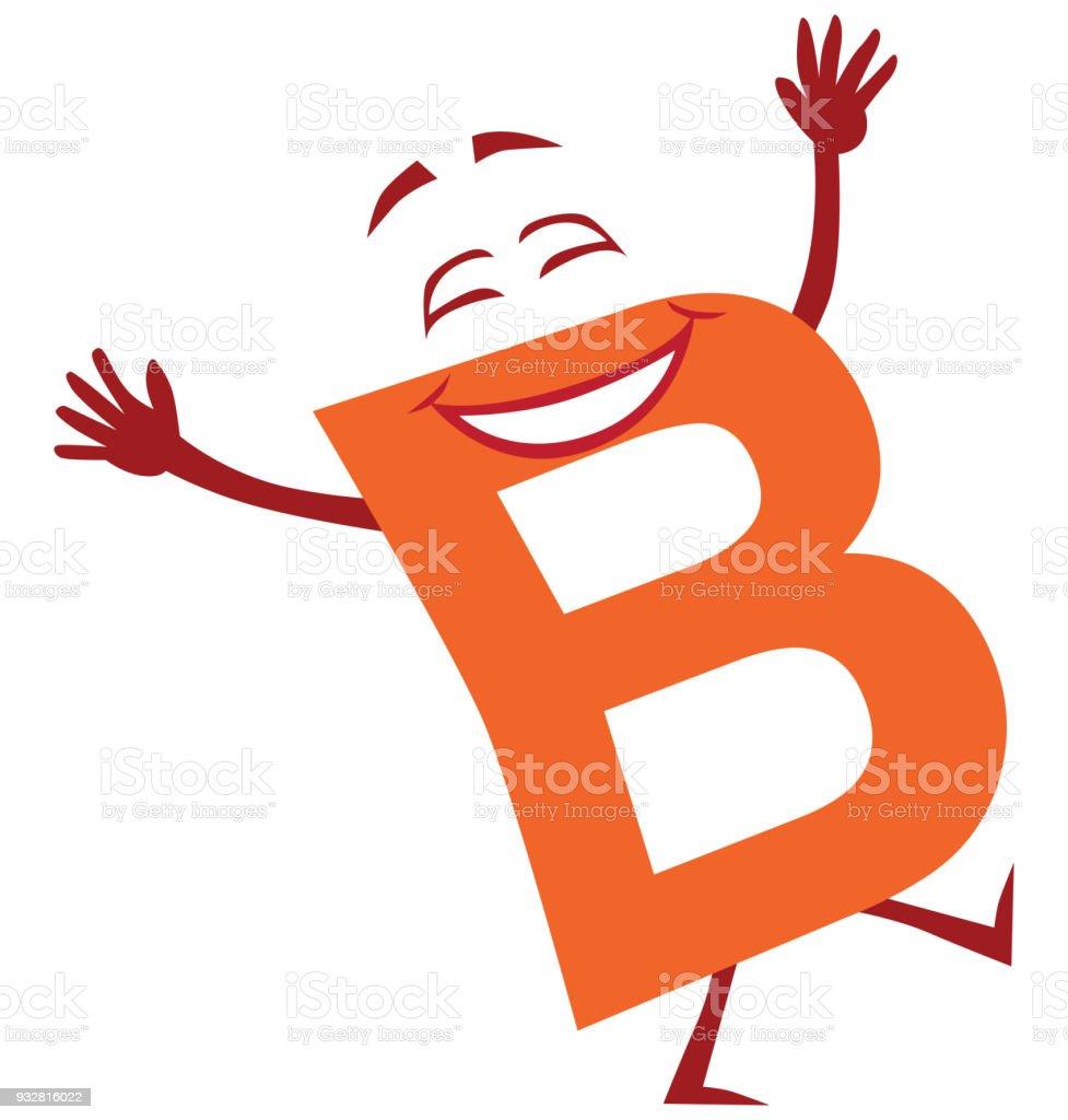ilustração de desenho animado feliz letra b e mais banco de imagens