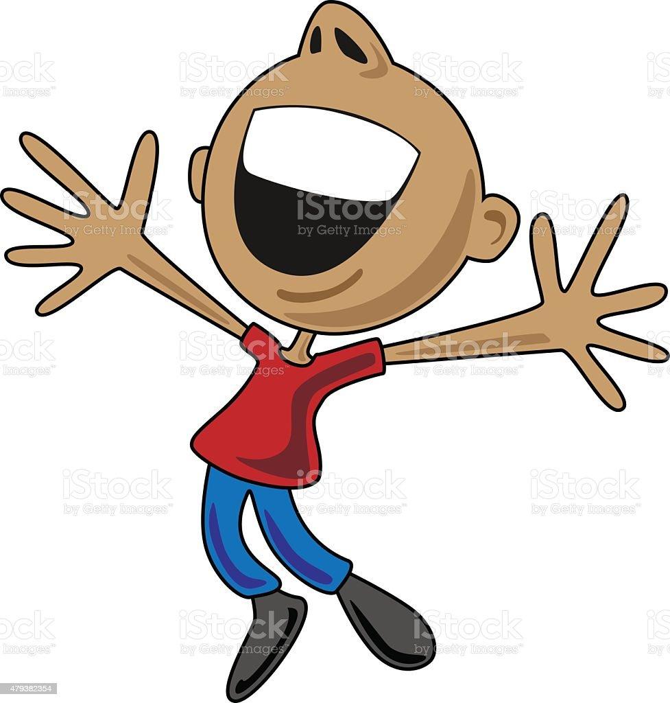 happy cartoon man jumping for joy stock vector art amp more
