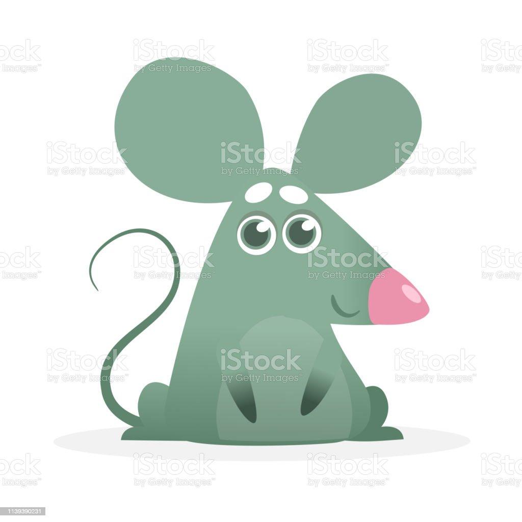 Happy Cartoon Mouse Talking Stock Illustration Download