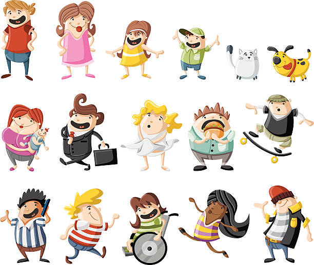 happy cartoon people - old man shoes stock illustrations, clip art, cartoons, & icons