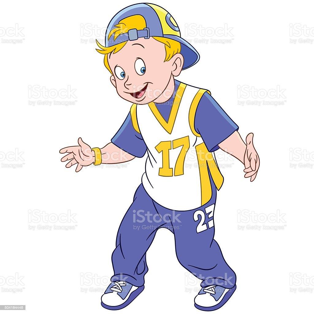 Niño feliz de historieta rapero ilustración de niño feliz de historieta  rapero y más banco de 1ae44300b5a