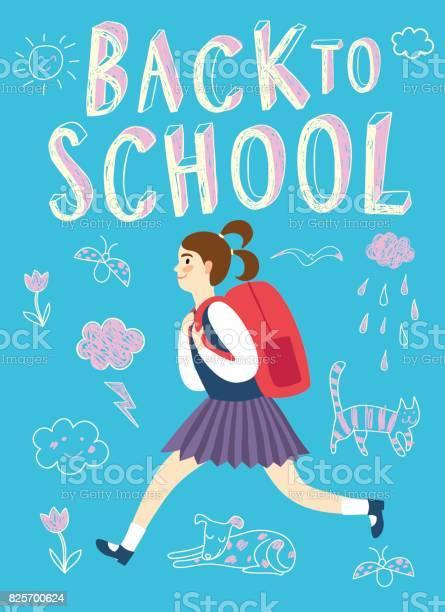 Happy cartoon schoolgirl running with backpack vector id825700624?b=1&k=6&m=825700624&s=612x612&h=fidkmrt6xih28tq0obrxtcwrbjsdtxocdxkycz7k0xi=