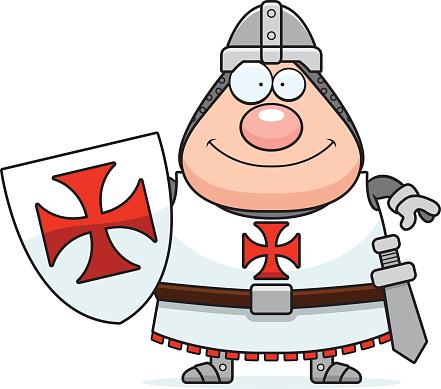 Happy Cartoon Templar