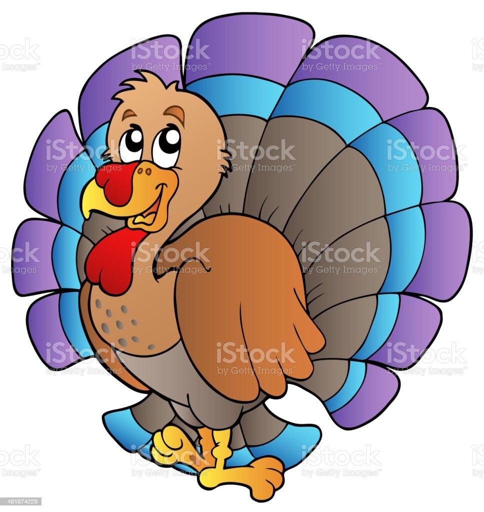 Happy cartoon turkey royalty-free stock vector art