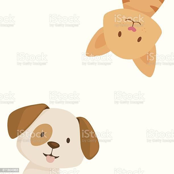 Happy Cat And Dog-vektorgrafik och fler bilder på Assistans