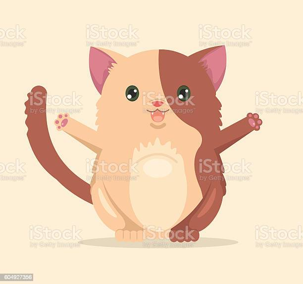 Happy cat character vector flat cartoon illustration vector id604927356?b=1&k=6&m=604927356&s=612x612&h=ztwi4zgbrnihjtvyf7x epl1nm 1 wdhbyiyf4hvzki=
