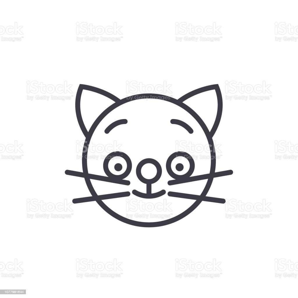 Royalty Free Cat Emotional Emoji Square Yellow Faces Icon Clip Art