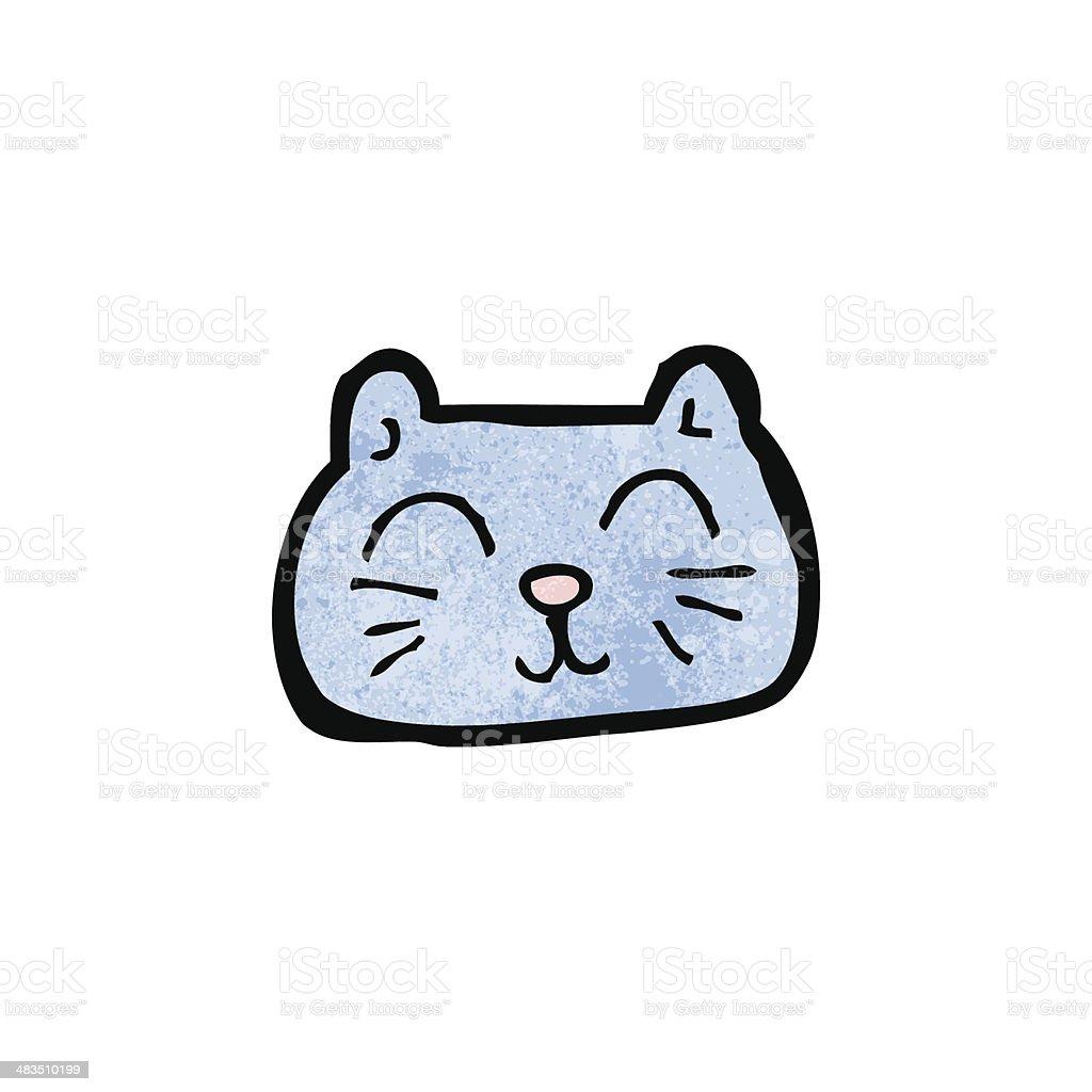 ilustração de rosto feliz dos desenhos animados gato e mais banco de