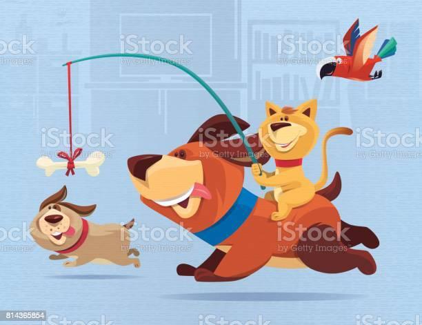 Happy cat guiding dog vector id814365854?b=1&k=6&m=814365854&s=612x612&h=n9t7xph4f6ltnxkyoqmxtgacfx5e8k7lgopavrt dhs=