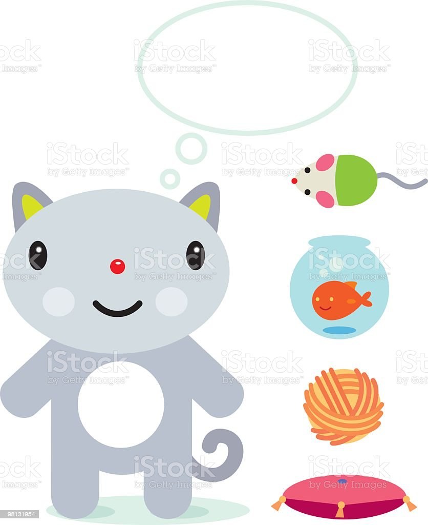 Happy Cat royalty-free happy cat stock vector art & more images of animal