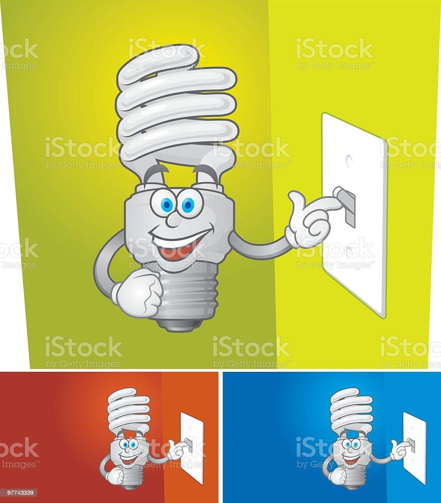 Happy CFL vector art illustration