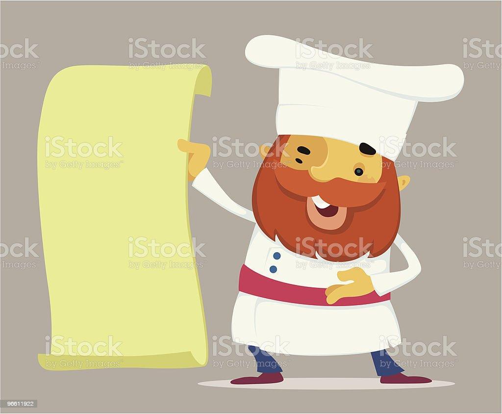 happy chef - Lizenzfrei Ankündigung Vektorgrafik