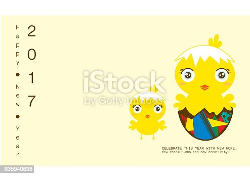 happy chicken new year card chinese zodiac stock vector art more images of 2017 635940638 istock