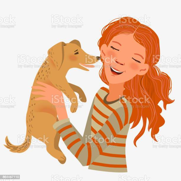 Happy child with funny dog cute girl with pet vector id864467110?b=1&k=6&m=864467110&s=612x612&h=3smtth0t6vdvqh4pczyaavp haseotf9ffrn5mr6qy8=