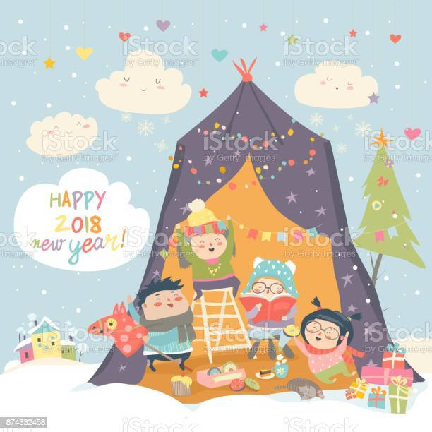 Happy children celebrating christmas vector id874332458?b=1&k=6&m=874332458&s=612x612&h=vq  09bf tuhefkbsivwd8yx1hw wggks1xa5m 3i24=