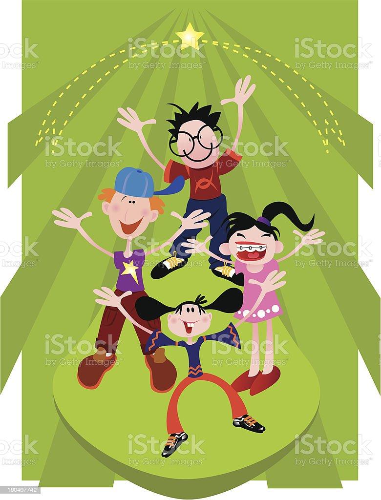 Happy Children Designs royalty-free stock vector art