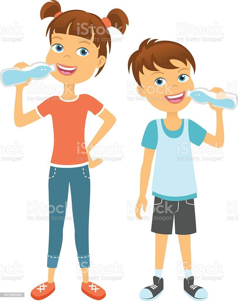 royalty free boy drinking water clip art vector images rh istockphoto com boy drinking water clipart drinking water clip art free