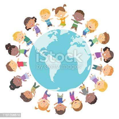 istock Happy children frame 1151208510