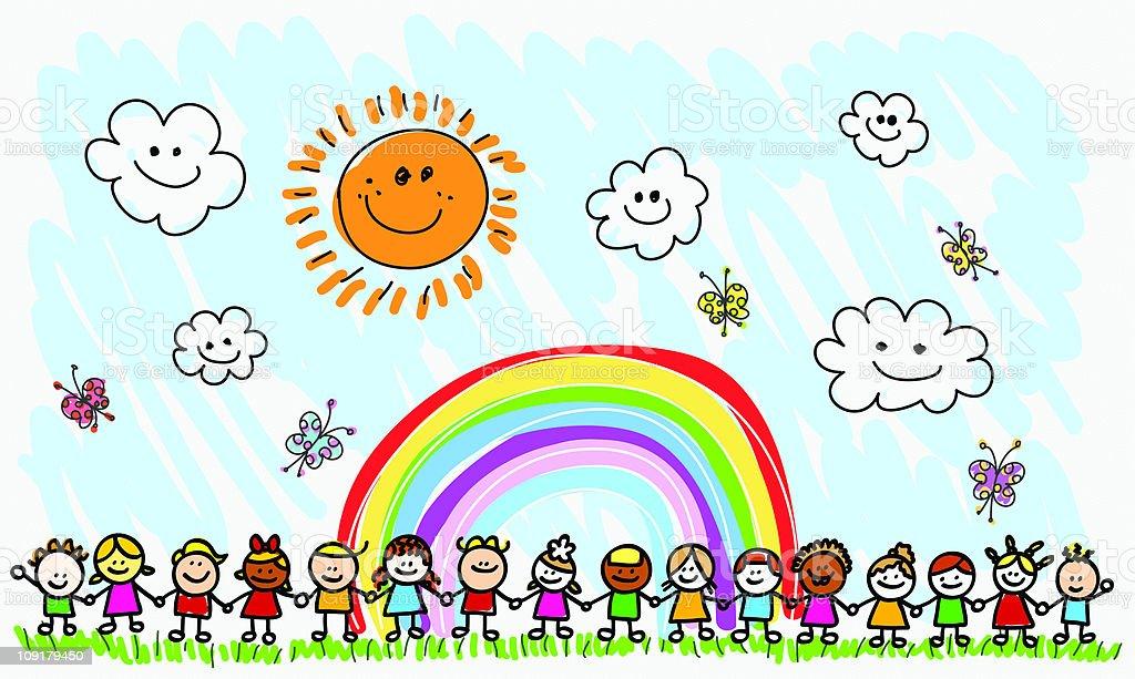 Картинки по запросу счастливые дети рисунок