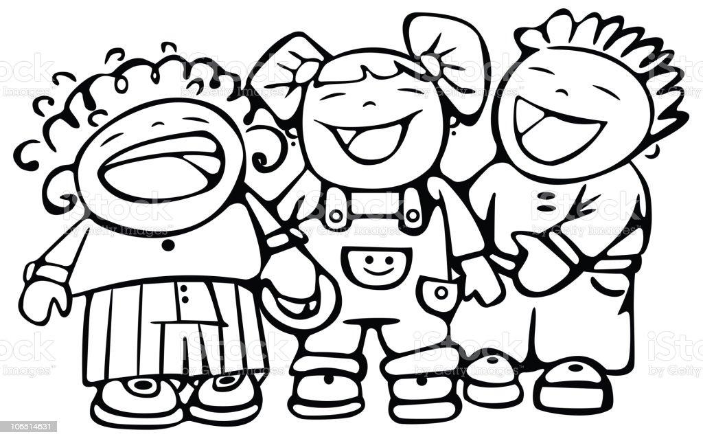 Glückliche Kinder Lachen Stock Vektor Art und mehr Bilder von Baby ...