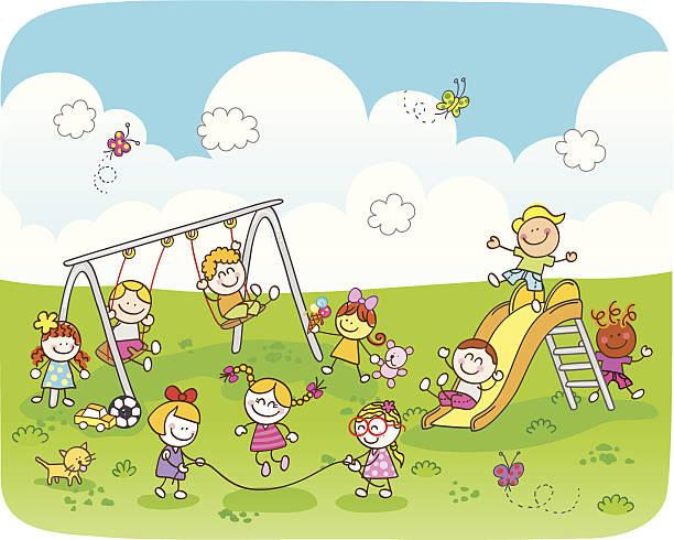 Royalty Free Kids Park Clip Art, Vector Images ...