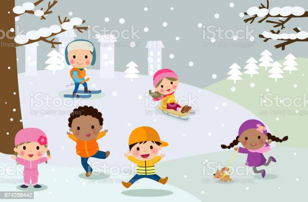 Happy children playing in snow vector id874259442?b=1&k=6&m=874259442&s=612x612&h=nvhviwuaghx3o r4nza7izz5jmxeqlnpba8lfhkgau0=