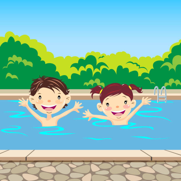 Royalty Free Baby Pool Clip Art, Vector Images ...