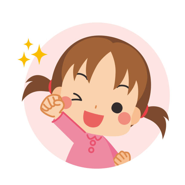 bildbanksillustrationer, clip art samt tecknat material och ikoner med glada barn - sparkle teen girl