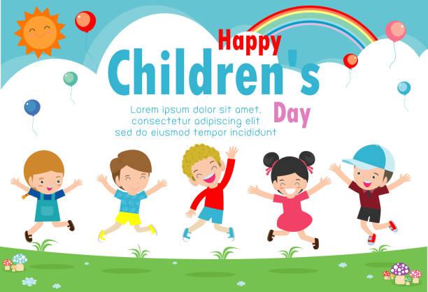 ilustrações, clipart, desenhos animados e ícones de fundo de dia da criança feliz, ilustração vetorial - dia das crianças