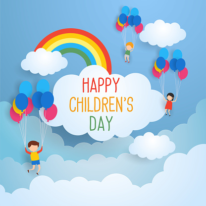 happy children's day for children celebration clipart