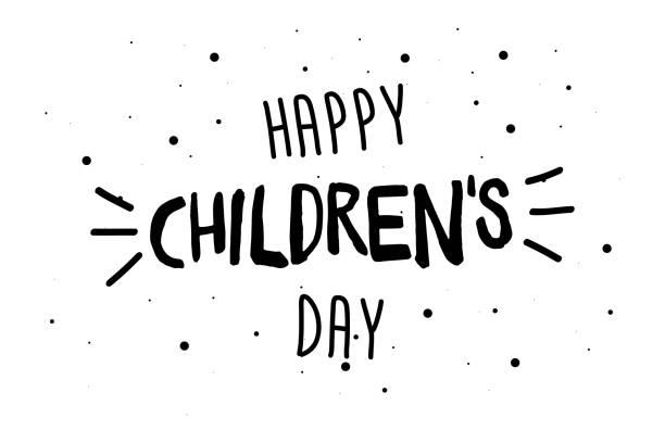 stockillustraties, clipart, cartoons en iconen met happy childrens dag wenskaart, banner of poster. world family holiday evenement ontwerp. vector illustratie - kinderdag