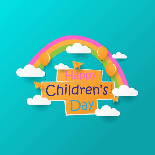 stockillustraties, clipart, cartoons en iconen met gelukkige dag van de kinderen - kinderdag