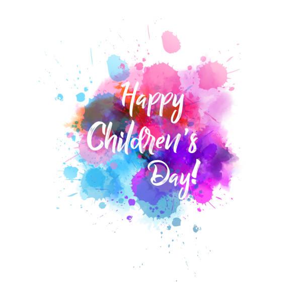 stockillustraties, clipart, cartoons en iconen met happy children's day! - kinderdag