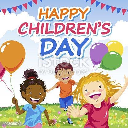 istock Happy Children's Day 1208059745