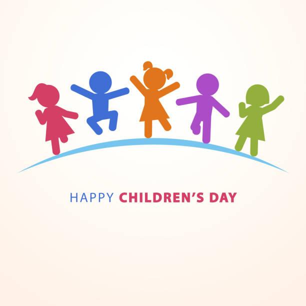 ilustraciones, imágenes clip art, dibujos animados e iconos de stock de feliz día del niño - font