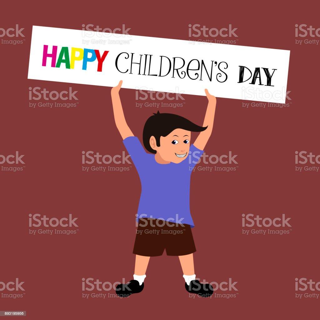 Happy children's day vector art illustration