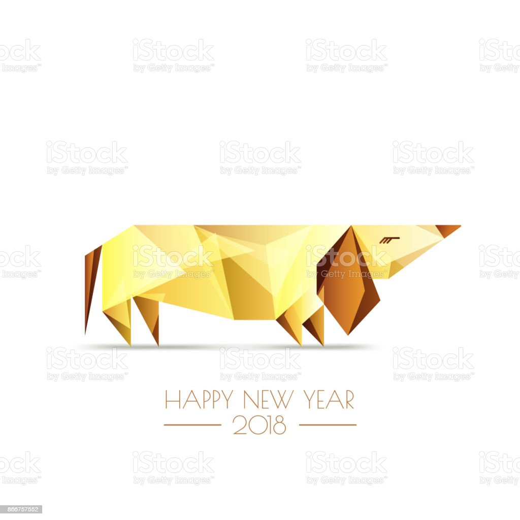 Happy chinese new year 2018 vector greeting card poster banner with happy chinese new year 2018 vector greeting card poster banner with golden luxury kristyandbryce Images