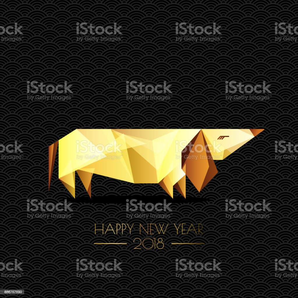 Happy chinese new year 2018 vector greeting card poster banner with happy chinese new year 2018 vector greeting card poster banner with gold luxury kristyandbryce Images