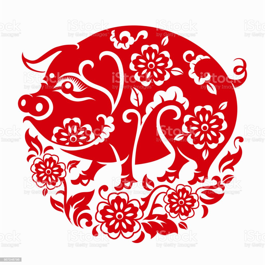 happy chinese new year 2019 zodiac sign year of the pig stock vector art more images of 2019. Black Bedroom Furniture Sets. Home Design Ideas