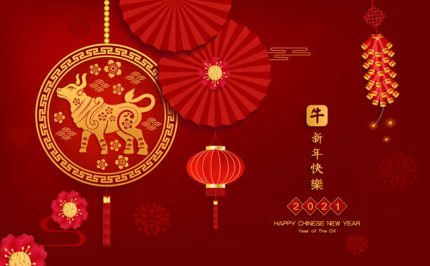 Happy Chinese new year 2021 year of the ox paper cut ox Asian elements with craft style on background. Chinese translation is Happy Chinese new year 2021 Happy Chinese new year 2021 year of the ox paper cut ox Asian elements with craft style on background. Chinese translation is Happy Chinese new year 2021 chinese currency stock illustrations