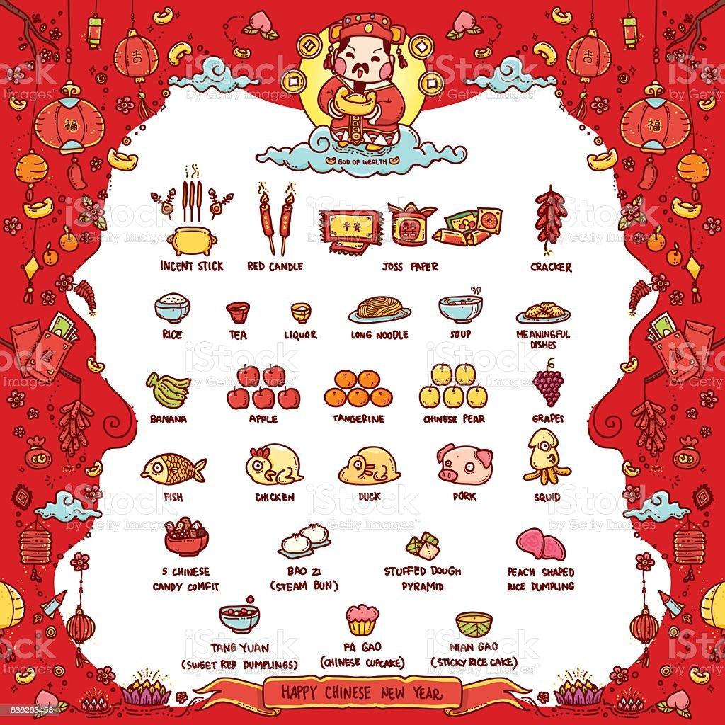 Happy Chinese New Year, God of Wealth - Grafika wektorowa royalty-free (Azja)