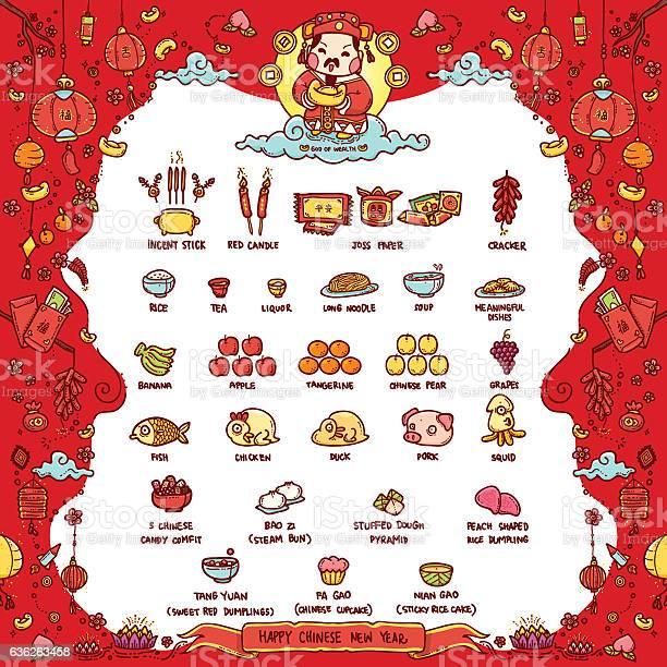 Happy Chinese New Year God Of Wealth - Stockowe grafiki wektorowe i więcej obrazów Azja