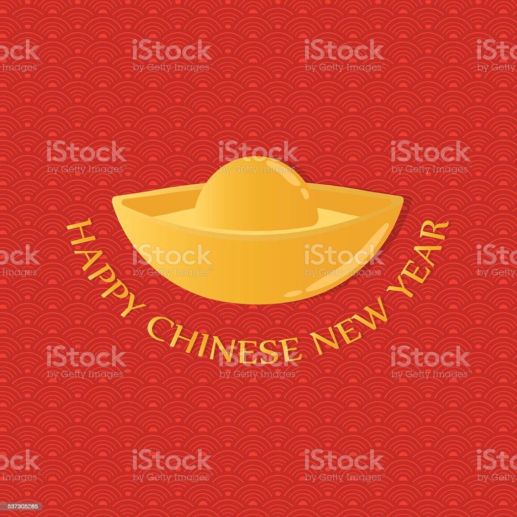 Happy Chinese New Year Grüße Chinesische Geld Stock Vektor Art und ...