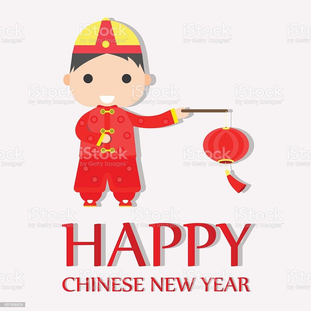 Happy chinese new year greetings happy boy stock vector art more happy chinese new year greetings happy boy royalty free happy chinese new year greetings kristyandbryce Choice Image