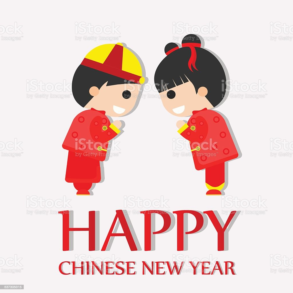 happy chinese new year greetings happy children royalty free happy chinese new year greetings