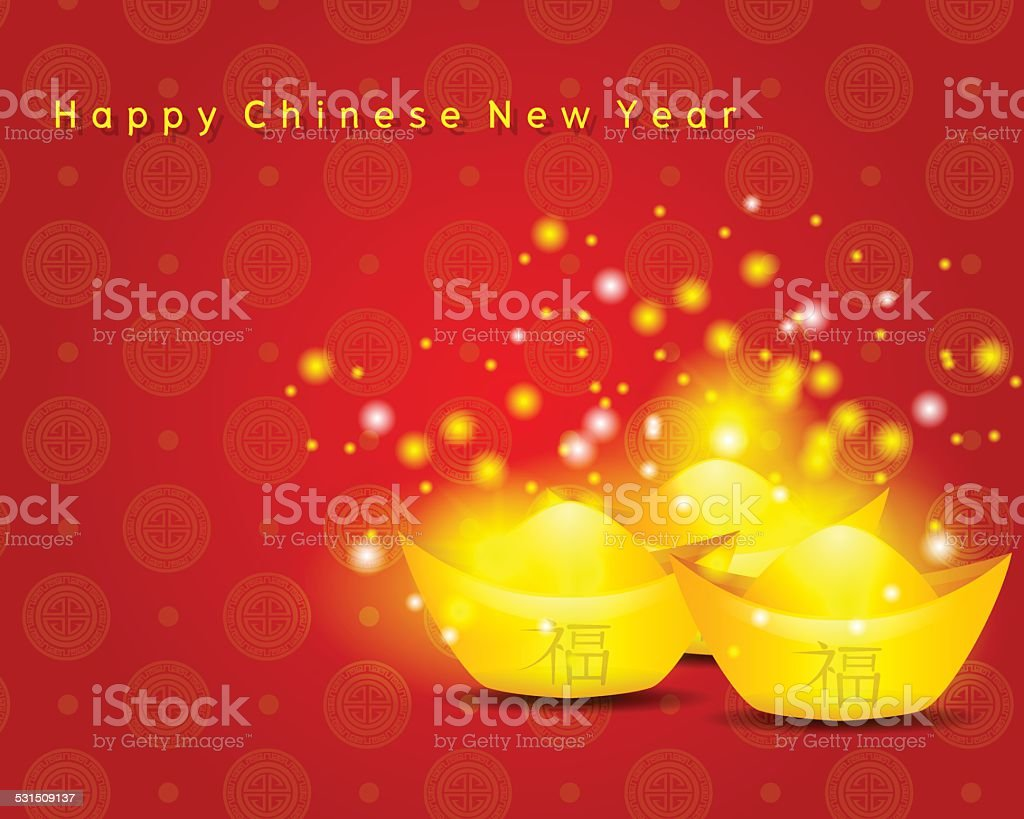 Happy Chinese New Year On Red Background Royalty Free