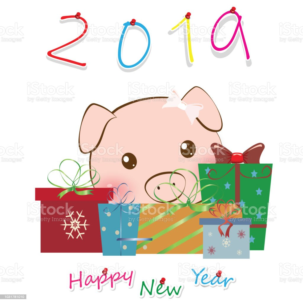 2019 Happy Chinese New Year Vector Design The Year Of Pig For ...