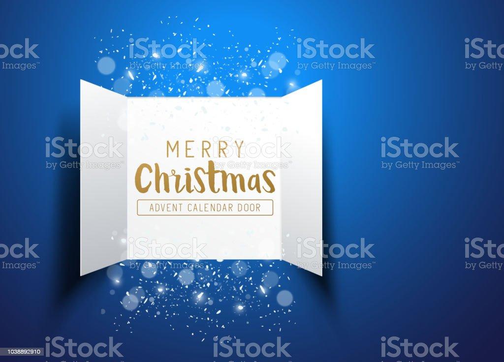 Frohe Weihnachten-Advent-Kalender-Türen – Vektorgrafik