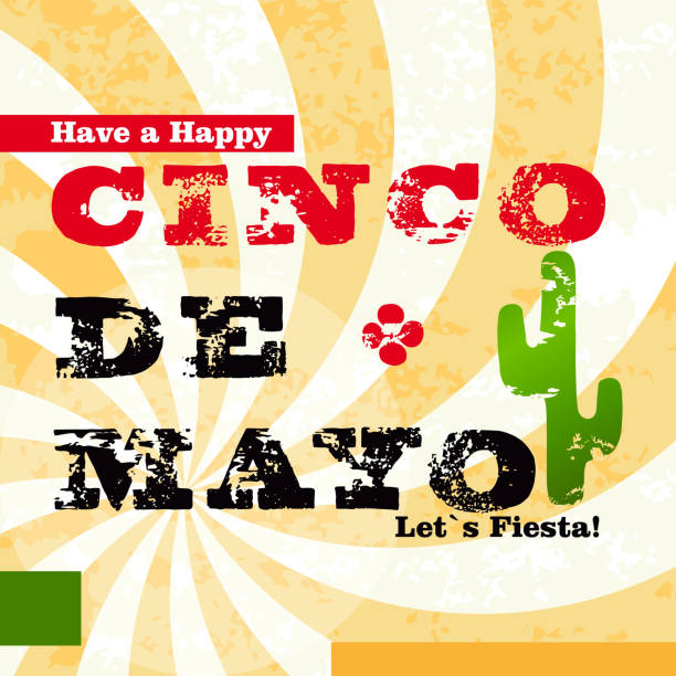 Happy Cinco de Mayo greeting card - illustrazione arte vettoriale