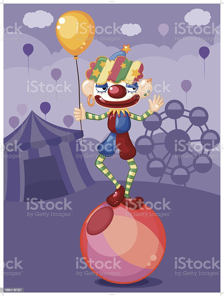Happy clown royalty-free stock vector art